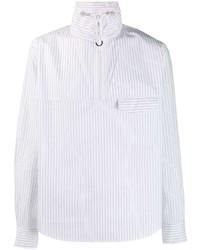 Chemise à manches longues à rayures verticales blanche Kenzo