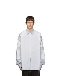 Chemise à manches longues à rayures verticales blanche Random Identities