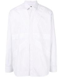 Chemise à manches longues à rayures verticales blanche Stella McCartney