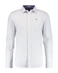 Chemise à manches longues à rayures verticales blanche Tommy Hilfiger