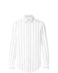 Chemise à manches longues à rayures verticales blanche Vivienne Westwood MAN