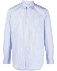 Chemise à manches longues à rayures verticales bleu clair Comme Des Garcons SHIRT