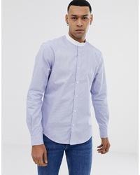 Chemise à manches longues à rayures verticales bleu clair Esprit