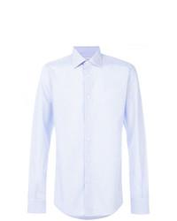 Chemise à manches longues à rayures verticales bleu clair Fashion Clinic Timeless