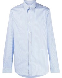 Chemise à manches longues à rayures verticales bleu clair Givenchy