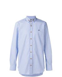Chemise à manches longues à rayures verticales bleu clair Vivienne Westwood