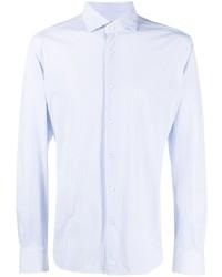Chemise à manches longues à rayures verticales bleu clair Xacus
