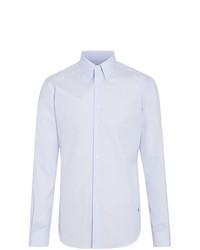 Chemise à manches longues à rayures verticales bleue claire Burberry