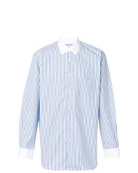 Chemise à manches longues à rayures verticales bleue claire Comme Des Garçons Shirt Boys