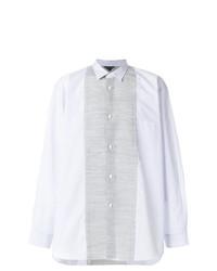 Chemise à manches longues à rayures verticales bleue claire Comme Des Garcons Homme Plus