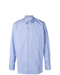 Chemise à manches longues à rayures verticales bleue claire Comme Des Garcons SHIRT