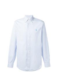 Chemise à manches longues à rayures verticales bleue claire Polo Ralph Lauren