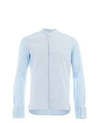 Chemise à manches longues à rayures verticales bleue claire Wales Bonner
