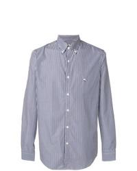 Chemise à manches longues à rayures verticales bleue Etro