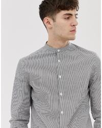 Chemise à manches longues à rayures verticales grise ASOS DESIGN