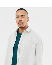 Chemise à manches longues à rayures verticales grise ASOS WHITE