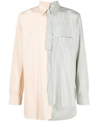 Chemise à manches longues à rayures verticales multicolore Lanvin