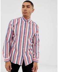 Chemise à manches longues à rayures verticales multicolore Tommy Hilfiger