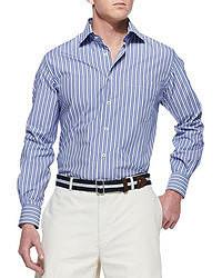 Chemise à manches longues à rayures verticales