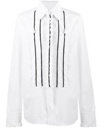 Chemise à manches longues à volants blanche Dolce & Gabbana