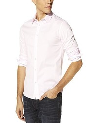 Chemise à manches longues beige Celio