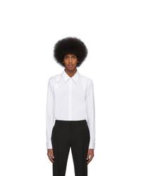 Chemise à manches longues blanche Alexander McQueen