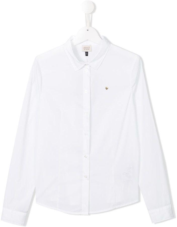 Chemise à manches longues blanche Armani Junior