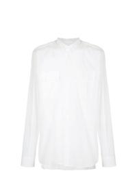 Chemise à manches longues blanche Balmain