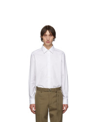 Chemise à manches longues blanche Burberry