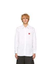 Chemise à manches longues blanche Comme Des Garcons Play