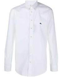 Chemise à manches longues blanche Etro