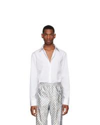 Chemise à manches longues blanche Gucci
