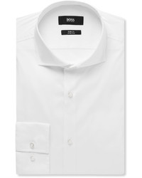 Chemise à manches longues blanche Hugo Boss