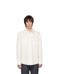 Chemise à manches longues blanche Lemaire