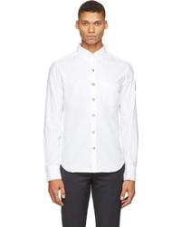Chemise à manches longues blanche Moncler