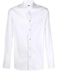 Chemise à manches longues blanche Philipp Plein