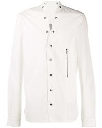 Chemise à manches longues blanche Rick Owens