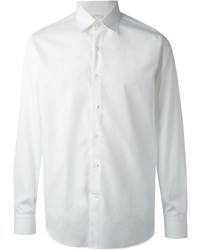 Chemise à manches longues blanche Salvatore Ferragamo