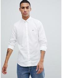 Chemise à manches longues blanche Tommy Hilfiger