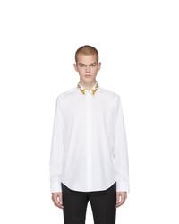 Chemise à manches longues blanche Versace