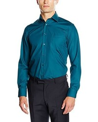 Chemise à manches longues bleu canard Casamoda