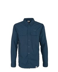 Chemise à manches longues bleu canard