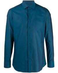 Chemise à manches longues bleu canard Etro