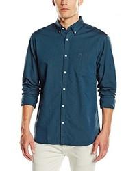 Chemise à manches longues bleu canard Selected