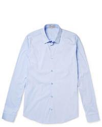 Chemise à manches longues bleu clair