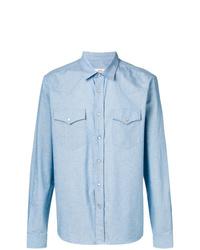 Chemise à manches longues bleu clair AMI Alexandre Mattiussi