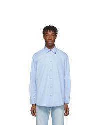 Chemise à manches longues bleu clair Balenciaga