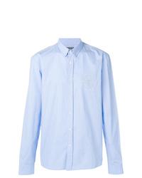 Chemise à manches longues bleu clair Balmain