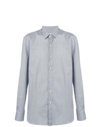 Chemise à manches longues bleu clair Boglioli