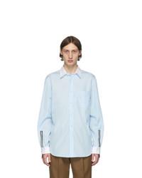 Chemise à manches longues bleu clair Burberry